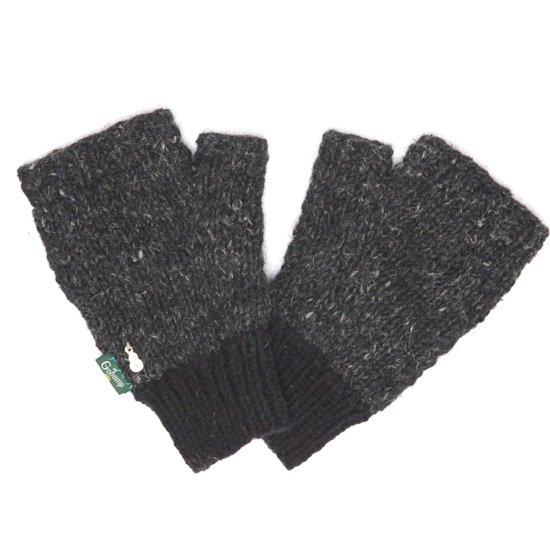 GO HEMP ゴーヘンプ RIB & PEACE GLOBE (ブラック)(手袋)