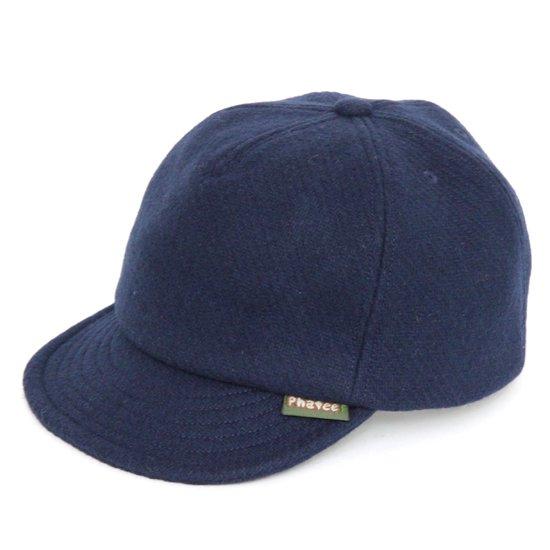 Phatee ファティ HEMP CAP MELTON (メルトンネイビー)(ヘンプキャップ メルトン)
