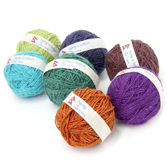 chahat チャハット|yarn ball SOLID 糸玉 無地 (ヘンプコットンボール)