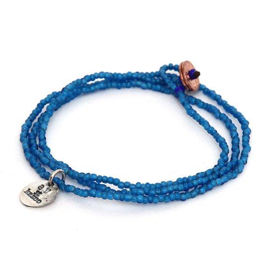 GO WEST ゴーウェスト|kazoo ANTIQUE BEADS (ブルー)(ネックレス ブレスレット ホワイトハーツ)