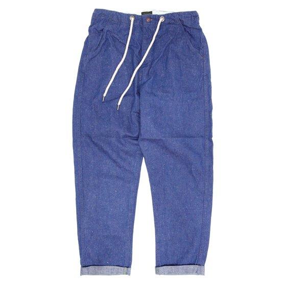 GO HEMP ゴーヘンプ|H/C SLUB NEP HARVESTER PANTS (ブルー)(ハーベスターパンツ)