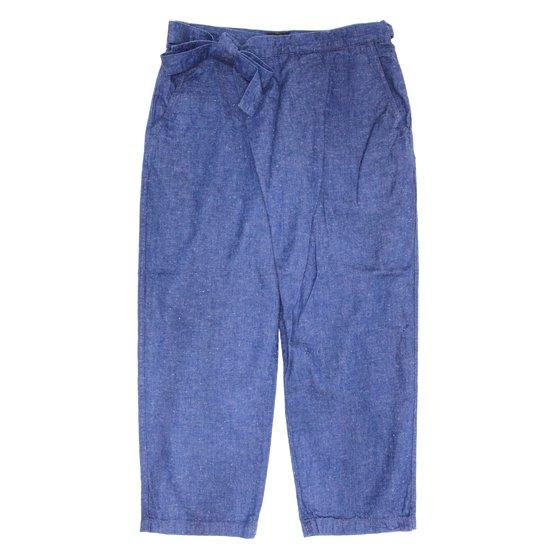 GO HEMP ゴーヘンプ|H/C SLUB NEP WRAP JOINT PANTS (ブルー)(ラップパンツ)