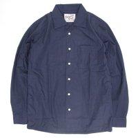 SPINNER BAIT スピナーベイト|ウェザー オープンカラーシャツ (ネイビー)(長袖シャツ オープンカラーシャツ)
