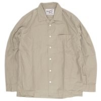 SPINNER BAIT スピナーベイト|ウェザー オープンカラーシャツ (ベージュ)(長袖シャツ オープンカラーシャツ)