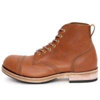 William Lennon ウィリアムレノン|#107 Field Boots (キャメル ブローグ)(ワークブーツ フィールドブーツ)