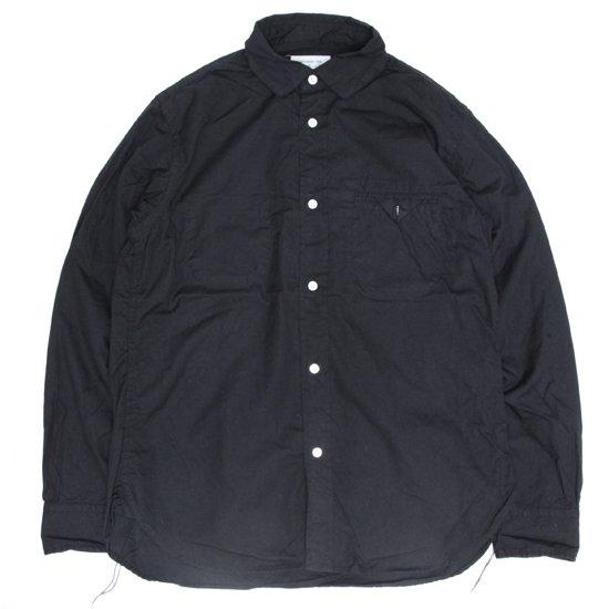 ORDINARY FITS オーディナリーフィッツ|INVISIBLE B/D SHIRT (ブラック)(インビジブルシャツ)