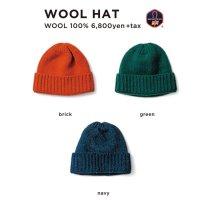 GREEN CLOTHING グリーンクロージング【予約商品】9月〜11月入荷予定|18-19 WOOL HAT (ニット帽)