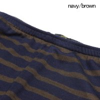GREEN CLOTHING グリーンクロージング|18-19 WOOL PANTS (navy/brown)  (ウールファーストレイヤー)