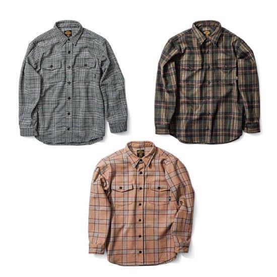 GREEN CLOTHING グリーンクロージング|18-19 WOOL FLANNEL SHIRTS (ウールシャツ)