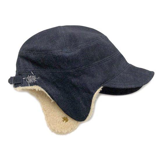 GREEN CLOTHING グリーンクロージング|18-19 GREENCLOTHING×REVE  DENIM BOA CAP (カイハラデニム ボアキャップ) 別注