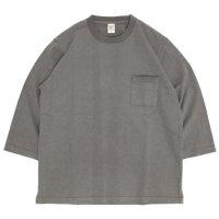 Jackman ジャックマン|JM5807 Dotsume 1/2 Sleeved T-Shirt (ウォールグレイ)(五分袖TEE)