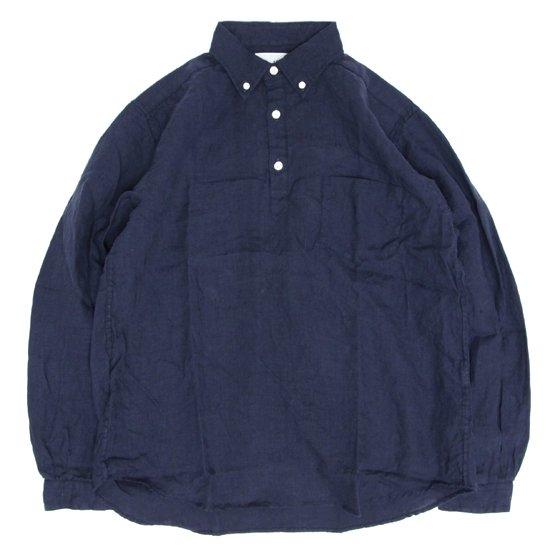 SPINNER BAIT スピナーベイト|リネンシャンブレー ラモスシャツ (ネイビー)(長袖シャツ)