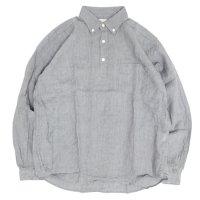 SPINNER BAIT スピナーベイト|リネンシャンブレー ラモスシャツ (セメントグレー)(長袖シャツ)