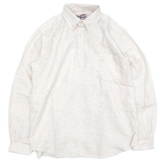 SPINNER BAIT スピナーベイト|リネンシャンブレー ラモスシャツ (ホワイト)(長袖シャツ)