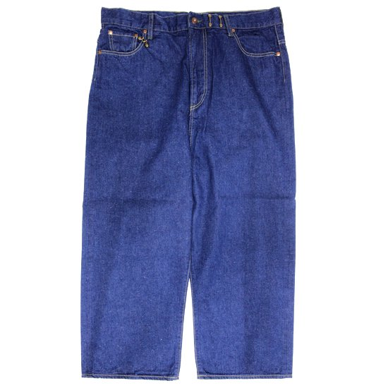 GO HEMP ゴーヘンプ|H/C SLUB NEP TOM YAM PANTS (ブルー)(デニムパンツ)