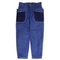 GO HEMP ゴーヘンプ|H/C SLUB NEP VENDER LEGGINGS PANTS (ブルー)(ベンダーレギンス)