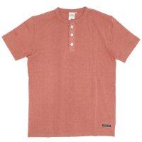 A HOPE HEMP アホープヘンプ|Henley Neck S/S Tee (ブルーム)(Tシャツ ヘンリーネック)