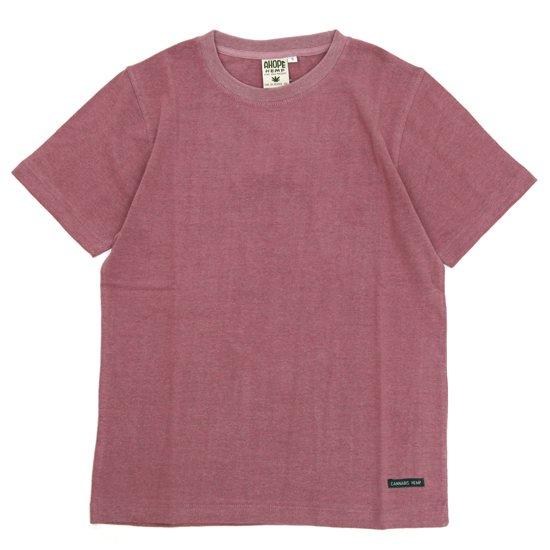 A HOPE HEMP アホープヘンプ Regular S/S Tee (スカーレット)(ヘンプコットン Tシャツ)