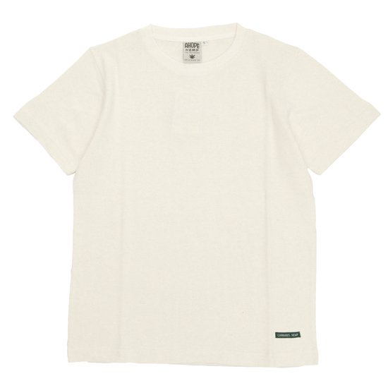 A HOPE HEMP アホープヘンプ|Regular S/S Tee (ナチュラル)(ヘンプコットン Tシャツ)