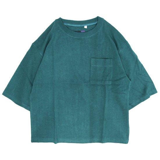 A HOPE HEMP アホープヘンプ|レディース 1/2 Pocket Wide Tee (プラントブルー)(ワイドTシャツ)