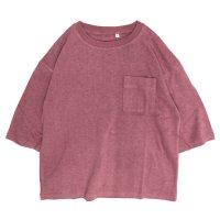A HOPE HEMP アホープヘンプ|レディース 1/2 Pocket Wide Tee (スカーレット)(ワイドTシャツ)