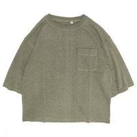 A HOPE HEMP アホープヘンプ|レディース 1/2 Pocket Wide Tee (ラットセージ)(ワイドTシャツ)