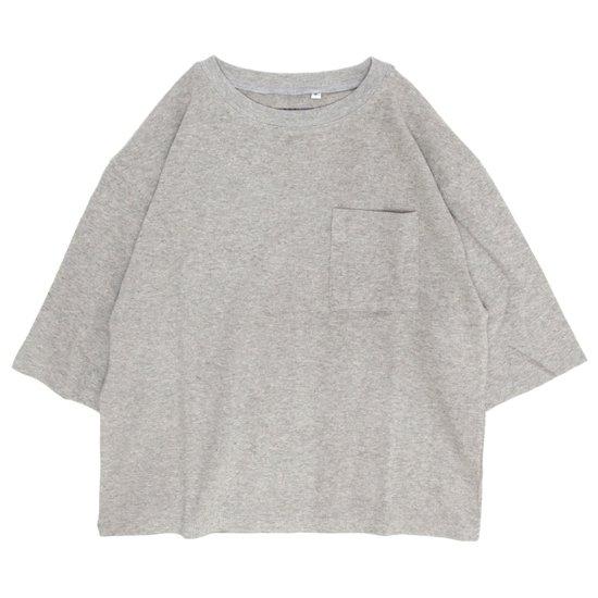A HOPE HEMP アホープヘンプ|レディース 1/2 Pocket Wide Tee (アッシュドグレイ)(ワイドTシャツ)