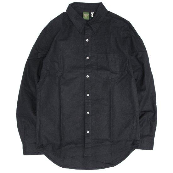 Phatee ファティ|FLAT SHIRTS (ブラック)(ヘンプコットンシャツ)