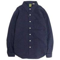 Phatee ファティ|FLAT SHIRTS (ネイビー)(ヘンプコットンシャツ)