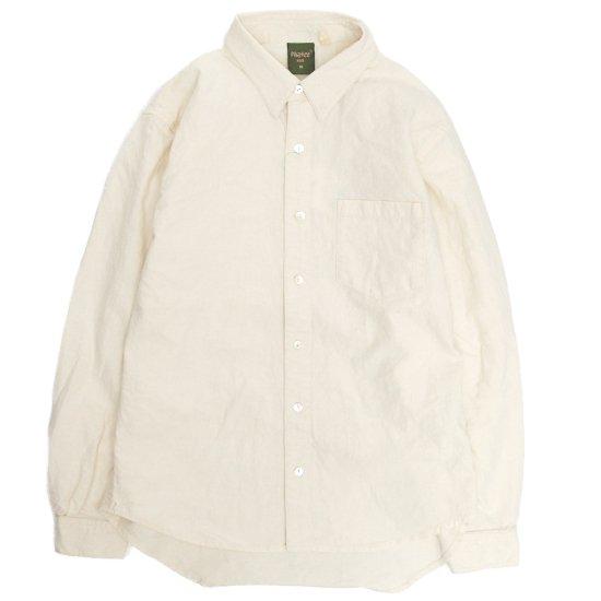 Phatee ファティ|FLAT SHIRTS (生成り)(ヘンプコットンシャツ)