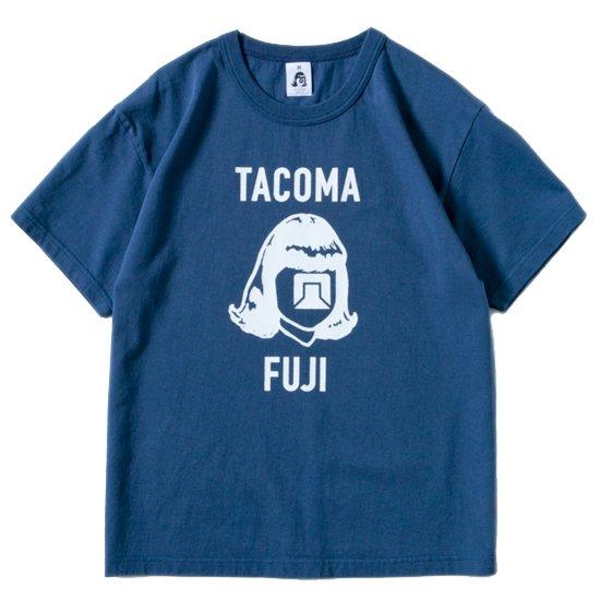 TACOMA FUJI RECORDS タコマフジレコード LOGO MARK '18 TEE (ネイビー)(プリントTシャツ)