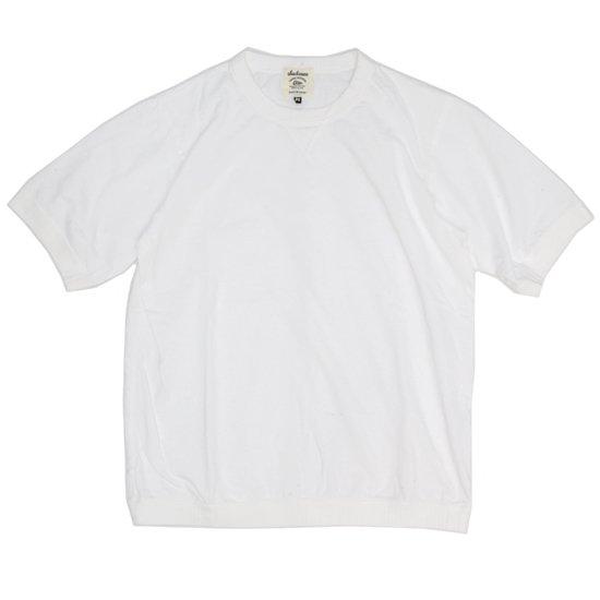 Jackman ジャックマン|JM5632 Rib T-shirt (ホワイト)(リブTEE)