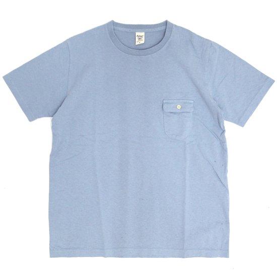 Jackman ジャックマン|JM5550 Pocket T-shirt (グレイッシュサックス)(ポケTEE)