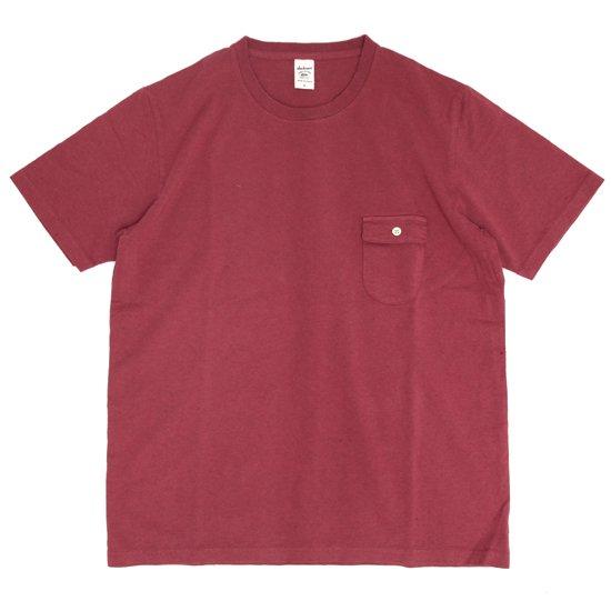 Jackman ジャックマン|JM5550 Pocket T-shirt (オールドマルーン)(ポケTEE)