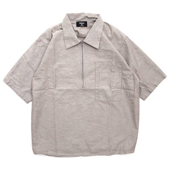 remilla レミーラ|プルデクト五分シャツ (サンドブラウン杢)(半袖シャツ)