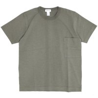 BETTER ベター|SUPIMA SLUB CREW NECK POCKET TEE (セージグレイ)(ポケTEE)
