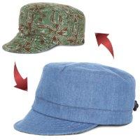 GO HEMP ゴーヘンプ|AFRICAN BATIK PORTER CAP (ブラウン)(リバーシブルキャップ)
