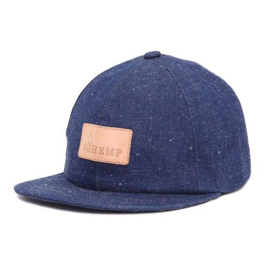 GO HEMP ゴーヘンプ|H/C SLUB NEP BASEBALL CAP (ブルー)(デニムキャップ)