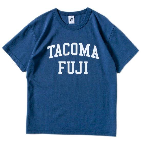 TACOMA FUJI RECORDS タコマフジレコード|COLLEGE LOGO TEE (ネイビー)(プリントTシャツ)