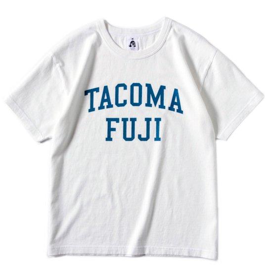 TACOMA FUJI RECORDS タコマフジレコード|COLLEGE LOGO TEE (ホワイト)(プリントTシャツ)