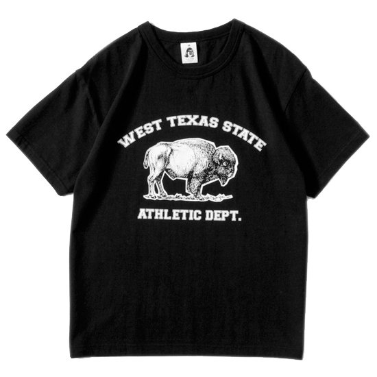 TACOMA FUJI RECORDS タコマフジレコード|WEST TEXAS STATE ATHLETIC DEPT TEE (ブラック)(プリントTシャツ)