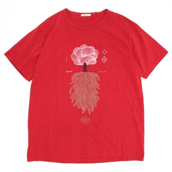 remilla レミーラ|CONSCIOUS-SUBCONSCIOUS TEE (朱色 シュイロ)(Tシャツ)