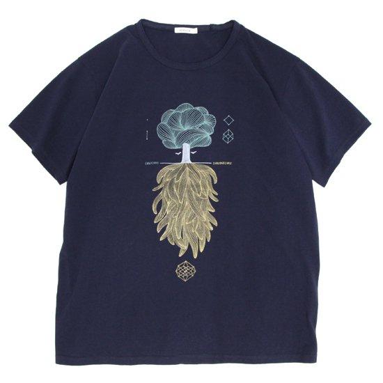 remilla レミーラ|CONSCIOUS-SUBCONSCIOUS TEE (ネイビー)(Tシャツ)