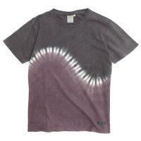 A HOPE HEMP アホープヘンプ|TYE DYE S/S Tee JV031G (ブラックパープル)(染めTシャツ)