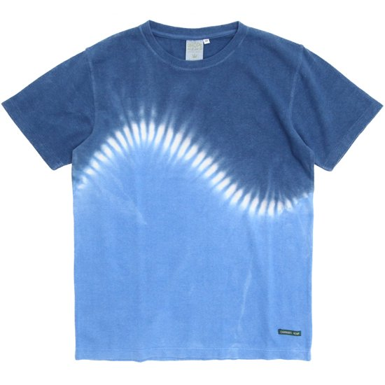 A HOPE HEMP アホープヘンプ|TYE DYE S/S Tee JV031N (インディゴブルー)(染めTシャツ)