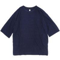 HiHiHi ひひひ|5分袖 ポケット Tee (ネイビー)(Tシャツ)