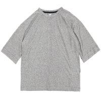 HiHiHi ひひひ|5分袖 ポケット Tee (杢グレー)(Tシャツ)