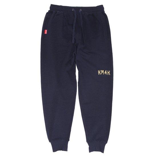 KM4K カモシカ|SWEAT PANTS (ネイビー)(カモシカ スウェットパンツ)