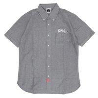 KM4K カモシカ|SHORT SLEEVED SHIRT (グレイ)(カモシカ ショートスリーブシャツ)