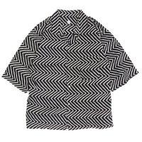 HiHiHi ひひひ|五分袖 カイキンシャツ (シマウマ)(開襟シャツ)